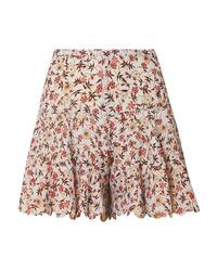 weiße Shorts mit Blumenmuster von Chloé