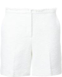 weiße Shorts mit Reliefmuster von Theory