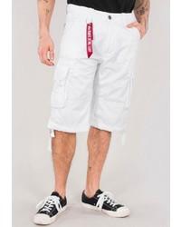 weiße Shorts von Alpha Industries