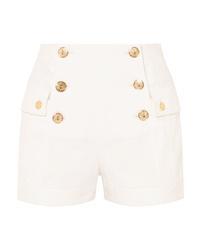 weiße Shorts von Balmain