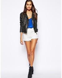weiße Shorts von Glamorous