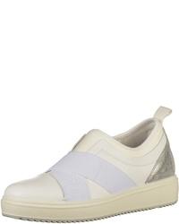 weiße Slip-On Sneakers aus Leder von IGI&Co