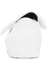 weiße Slip-On Sneakers aus Leder von Rebecca Minkoff