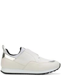 weiße Slip-On Sneakers aus Leder von Tod's