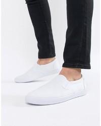 weiße Slip-On Sneakers aus Segeltuch von ASOS DESIGN