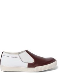 weiße Slip-On Sneakers aus Segeltuch von Marni