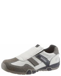 weiße Slip-On Sneakers aus Wildleder von Dockers by Gerli