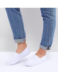 weiße Slip-On Sneakers von ASOS DESIGN