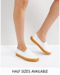 weiße Slip-On Sneakers von Asos