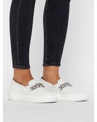 weiße Slip-On Sneakers von Bianco
