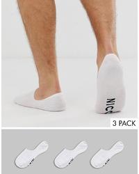 weiße Sneakersocken von Nicce London