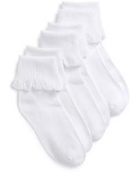 weiße Socke