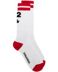 weiße Socken von DSQUARED2