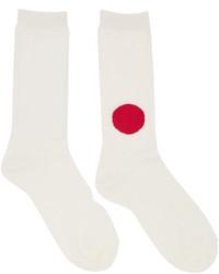 weiße Socken von Blue Blue Japan