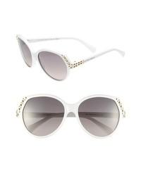 weiße Sonnenbrille