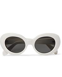 weiße Sonnenbrille von Acne Studios