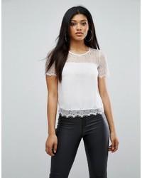 weiße Spitze Bluse von Lipsy