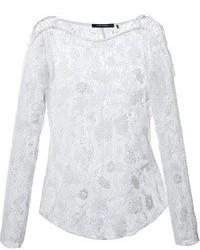 weiße Spitze Langarmbluse von Isabel Marant