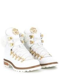 weiße Stiefel von Roberto Cavalli