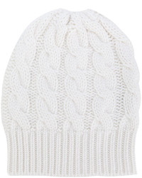 weiße Strick Mütze von Antonia Zander