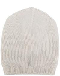 weiße Strick Mütze von Lamberto Losani
