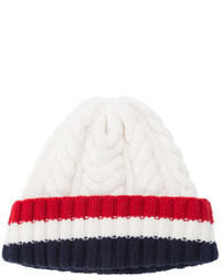 weiße Strick Mütze von Thom Browne