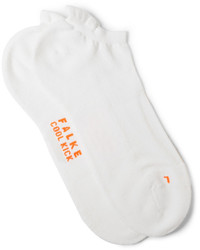 weiße Strick Socken