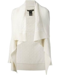 weiße Strick Strickjacke mit einer offenen Front von Ralph Lauren