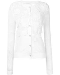 finest selection 52e6e bb784 Modische weiße Strickjacke mit Blumenmuster für Damen für ...