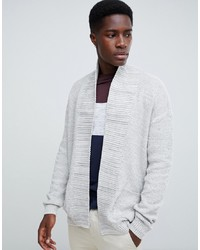 weiße Strickjacke mit einer offenen Front von New Look