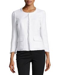 weiße Tweed-Jacke