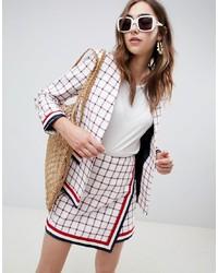 weiße Tweed-Jacke von ASOS DESIGN