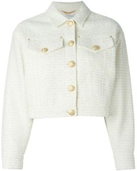 weiße Tweed-Jacke von Moschino