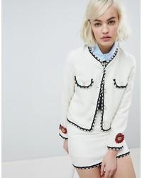 weiße Tweed-Jacke von Sister Jane