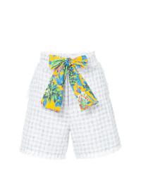 weiße Tweed Shorts von MSGM
