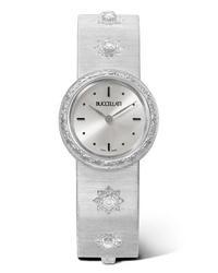 weiße Uhr von Buccellati