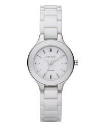 weiße Uhr von DKNY