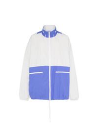 weiße und blaue Windjacke von Maison Margiela
