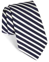 weiße und dunkelblaue Krawatte