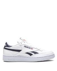 weiße und dunkelblaue Leder niedrige Sneakers von Reebok