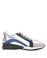 weiße und dunkelblaue Sportschuhe von DSQUARED2