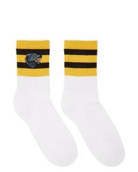 weiße und gelbe Socken von Gucci
