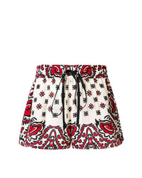 weiße und rote bedruckte Shorts von RED Valentino