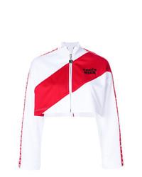 weiße und rote Bomberjacke von MSGM