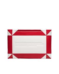 weiße und rote Leder Clutch von Calvin Klein 205W39nyc