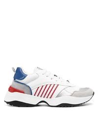 weiße und rote und dunkelblaue Sportschuhe von DSQUARED2