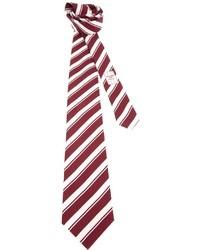 weiße und rote vertikal gestreifte Krawatte von Ermenegildo Zegna