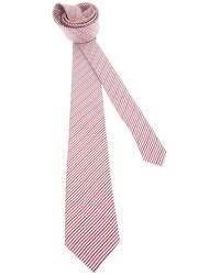 weiße und rote vertikal gestreifte Krawatte von Saint Laurent