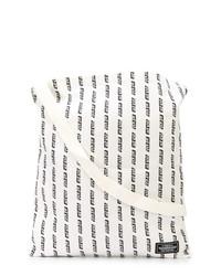 weiße und schwarze bedruckte Shopper Tasche aus Segeltuch von Neighborhood