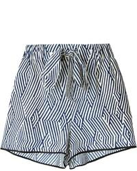 weiße und schwarze bedruckte Shorts von Forte Forte